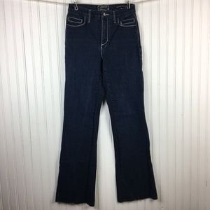 NYDJ Flare Leg Dark Wash Plain Pocket Jeans Size 4
